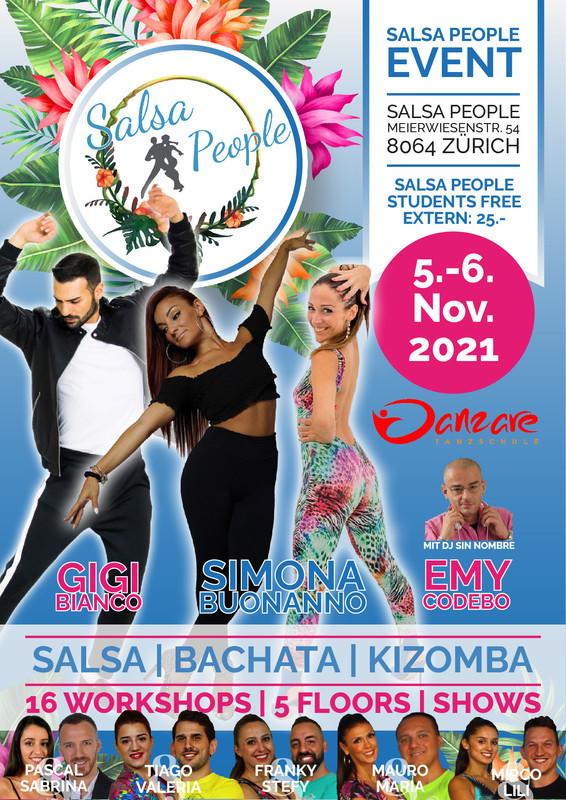 Salsa People Premium Event - mit special Guest Gigi Bianco von Full Project, Simona Buonanno und Emy Codebo!